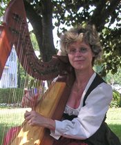 harp at a festival